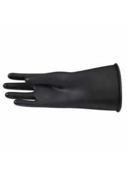 Acid-Resistant Black Rubber Gloves - Size 8.5