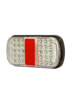 4 Function LED Small Rear Combination Lamp - Stop/Tail/Direction Indicator/Relfex Reflector - 12/24V