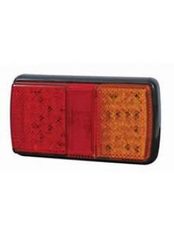 4 Function LED Rear Combination Lamp - Stop/Tail/Direction Indicator/Reflex Reflector - 12/24V