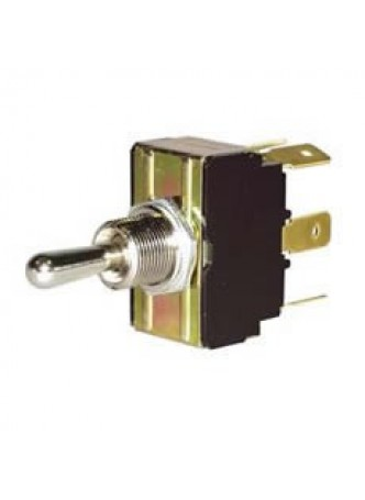 3 Way Momentary On/Off/Momentary On Double-Pole Switch with Metal Lever - 10A at 28V