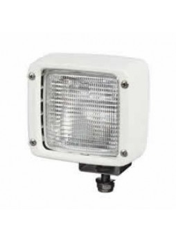 Waterproof White Work Lamp with Rubber Anti-Vibration Bush and Integral 2 Pin Plug Connector