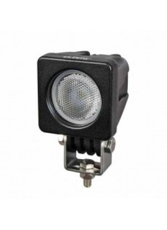 1 x 10W LED Compact Work Lamp with Flying Lead - Black, 12/24V
