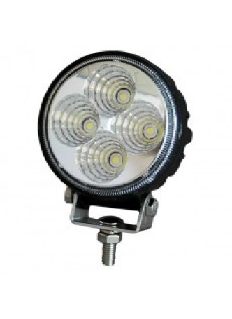 4 x 3W LED Work Lamp with 450mm Flying Lead - Black, 12/24V, IP67