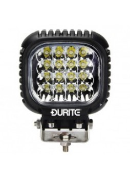 16 x 3W CREE LED Spot Lamp - Black, 10-30V 3800lm, IP67