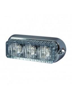 White High Intensity 3 LED Horizontal Warning Light - 12/24V