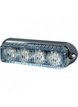 White High Intensity 4 LED Horizontal Warning Light - 12/24V