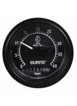 12/24V Alternator Pick-up Tachometer with Hour Meter - 0-4000RPM