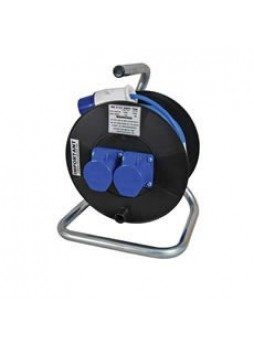 16A 230V Blue Mains Extension Reel - 25m