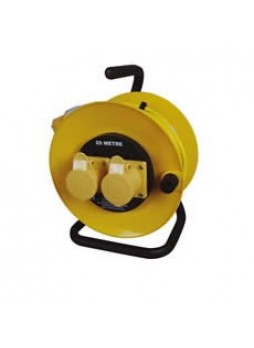 16A 110V Yellow Mains Extension Reel - 25m