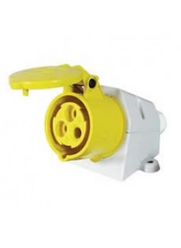 16A 110V Yellow Surface-Mounted Socket