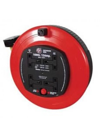 13A 4 Socket Mains Extension Reel - 10m