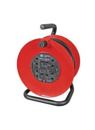 13A 4 Socket Mains Extension Reel - 30m