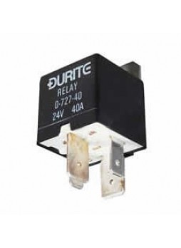 24V Mini Heavy Duty Make/Break Relay - Sealed with Resistor - 40A