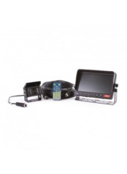 """CCTV Kit - 7"""" Quad Colour Monitor and Infrared Camera with Sound - 12/24V"""